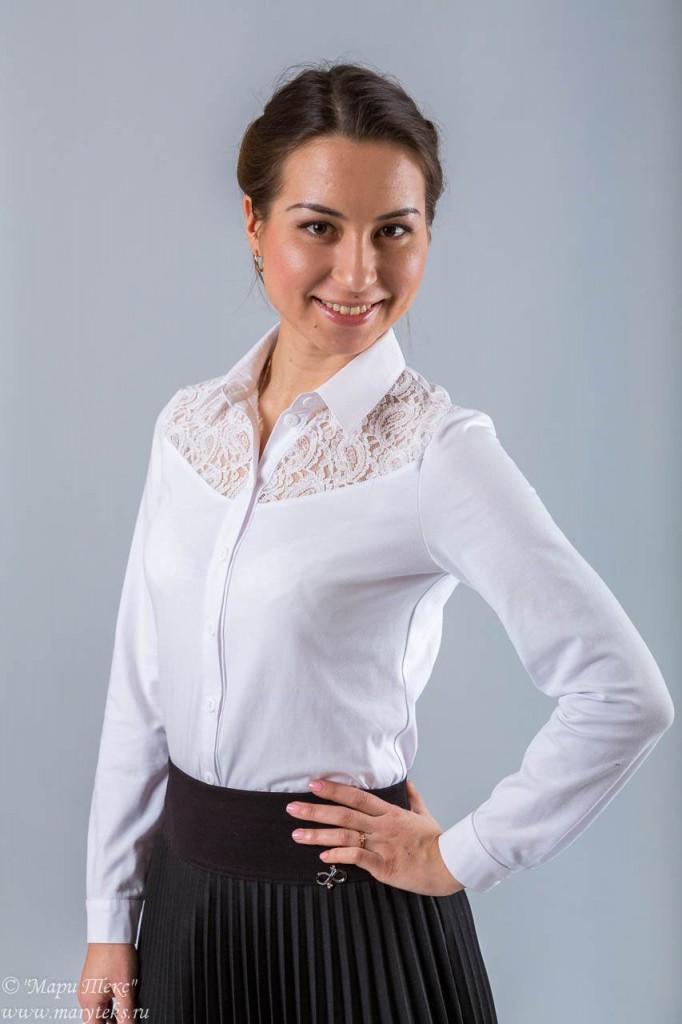 Блузка Белая Трикотажная В Екатеринбурге