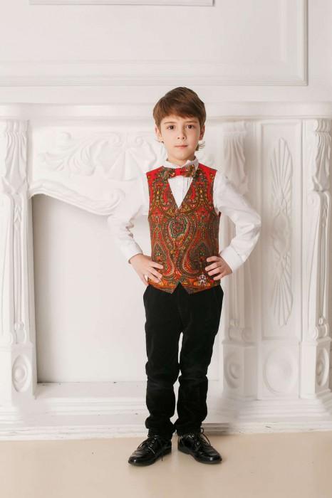 жилетка для мальчика в русском стиле