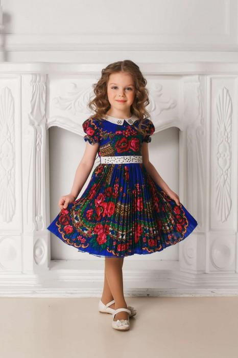 Платье в русском стиле детское юбка гофре