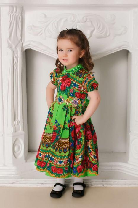 Платье дизайнерское в русском стиле для девочки