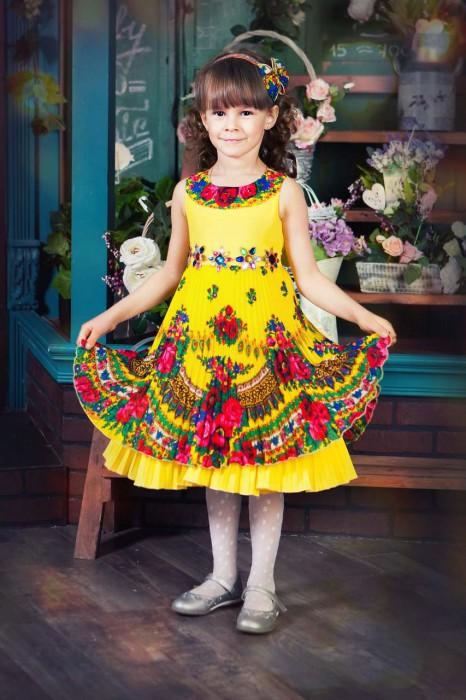 платье дизайнерское из платков